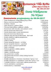 Dania Wielkanocne nawynos